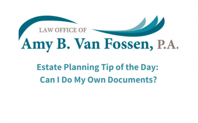 Estate Planning Tip of the Day: Can I Do My Own Documents?